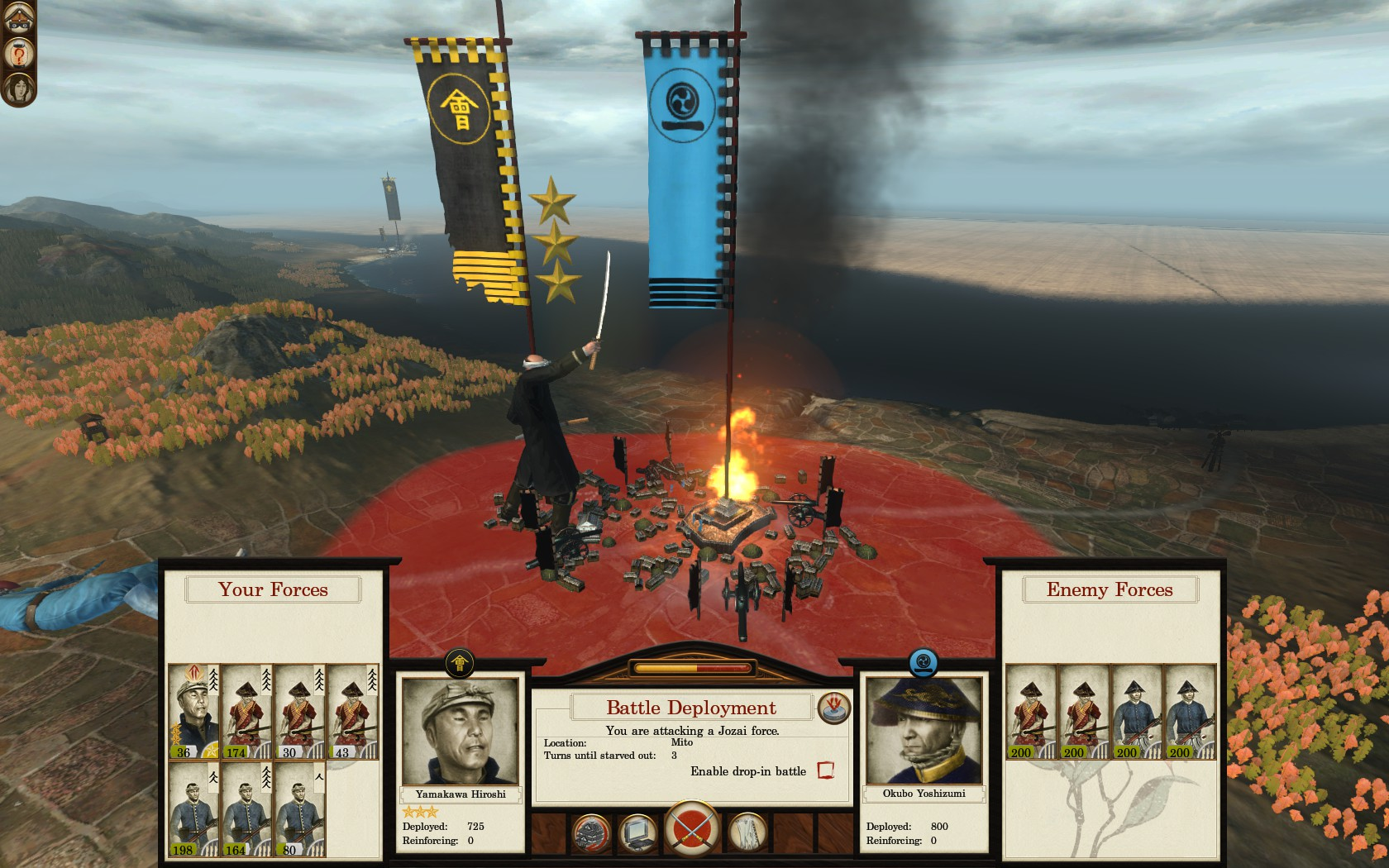 how to play fall of the samurai